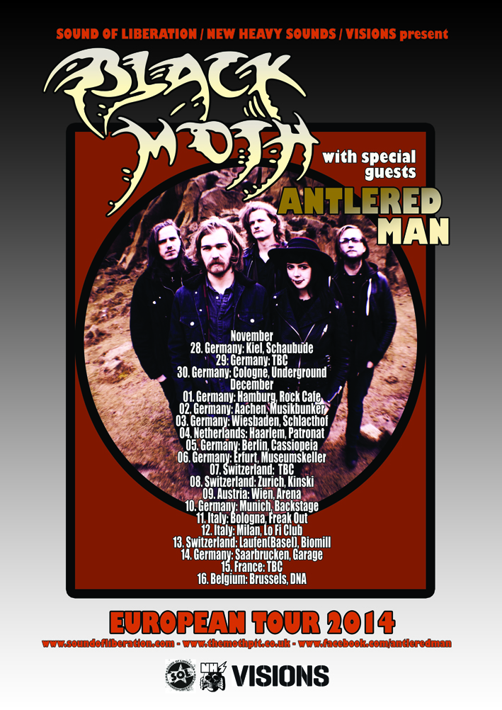 Black Moth euro tour poster black Moth vers SMALL