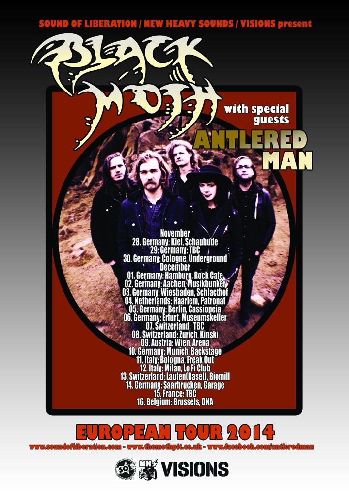 Black Moth euro tour poster black Moth vers SMALL